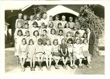 Olive and her Chandler class in 1938